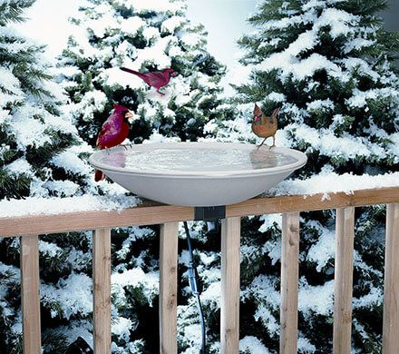 "20"" Heated Deck Birdbath"