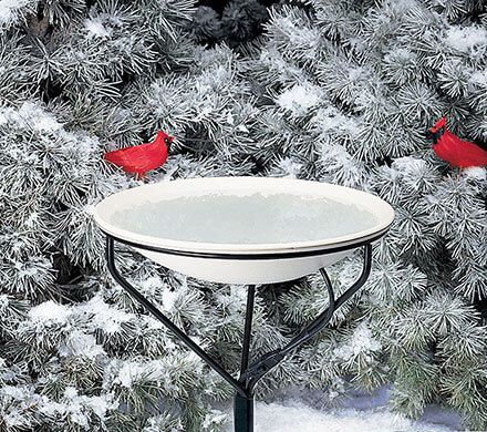 Dual-Mount Heated Birdbath