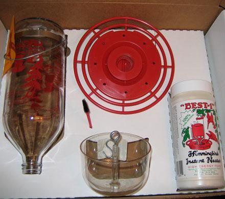 Glass Bottle Hummingbird Kit