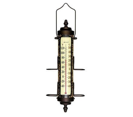 Bird Feeder & Thermometer Combination