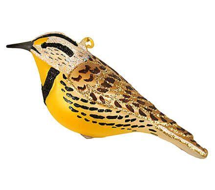 Hand-made Meadowlark Ornament