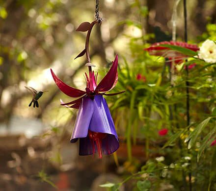 Sophisticated Steel Hummingbird Feeder
