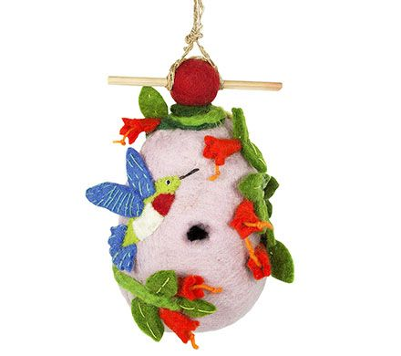 Decorative Felt Hummingbird House