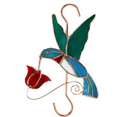 Stained Glass Hummingbird Hanger