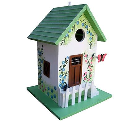 Hand-Painted Cottage Birdhouse