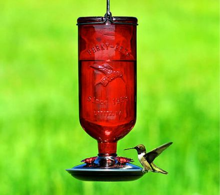 Elegant Antiqued Hummingbird Feeder