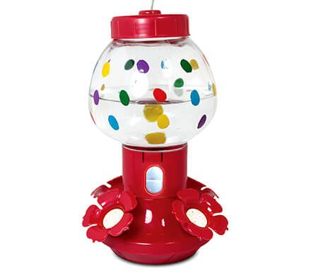 Bubblegum Machine Hummingbird Feeder