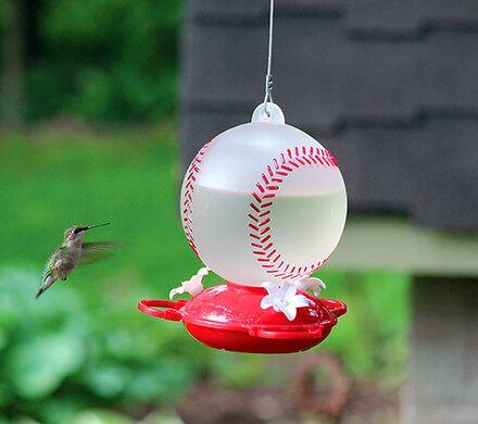 Baseball Hummingbird Feeder