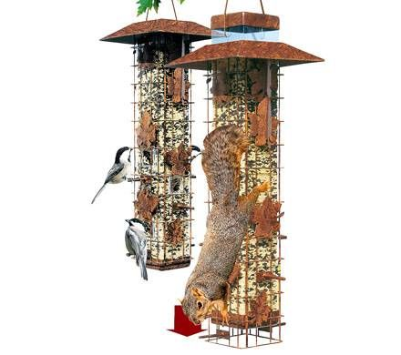 Rustic Bird Seed Feeder