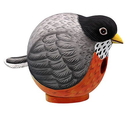 Robin-Shaped Birdhouse