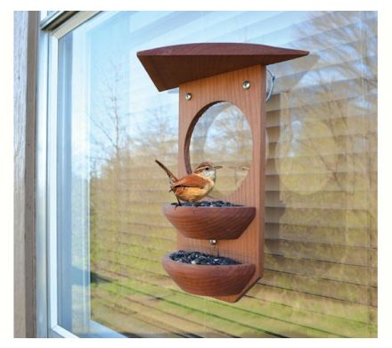 Hand-Turned Bowl Window Feeder
