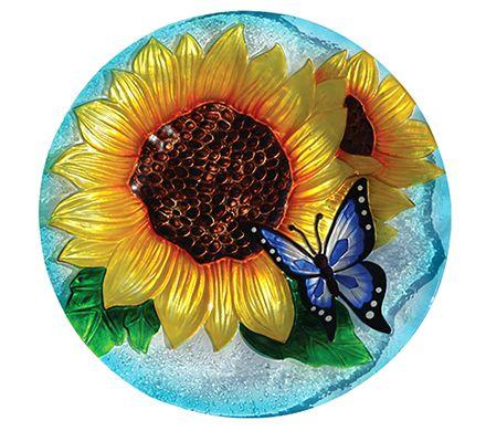 Glass Butterfly Birdbath with Stand