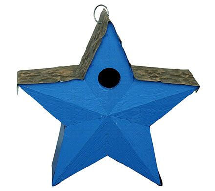 Star Birdhouse with Metal Roof