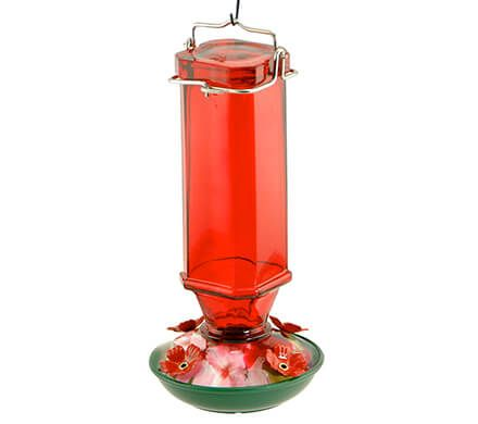 Vintage Painted Hummingbird Feeder