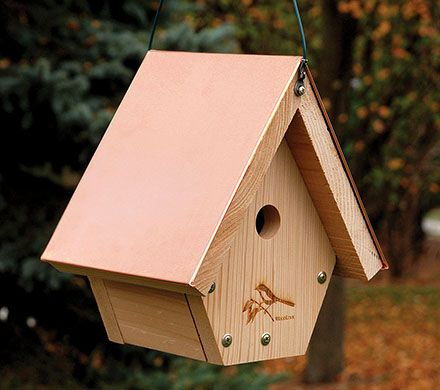 Cedar & Copper Roof Wren House