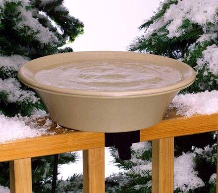 Compact Deck-Mounted Heated Birdbath