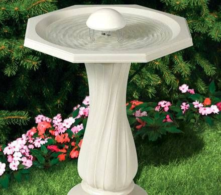 Water Rippling Pedestal Birdbath
