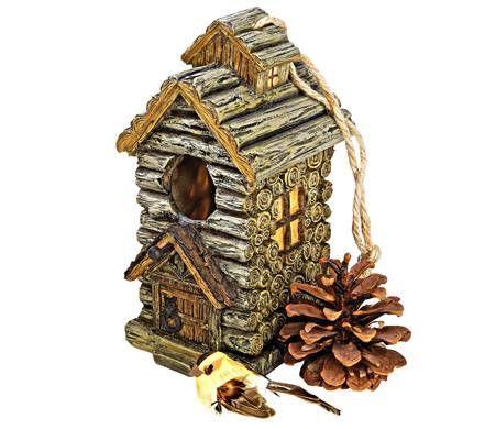 Backwoods Cabin Birdhouse