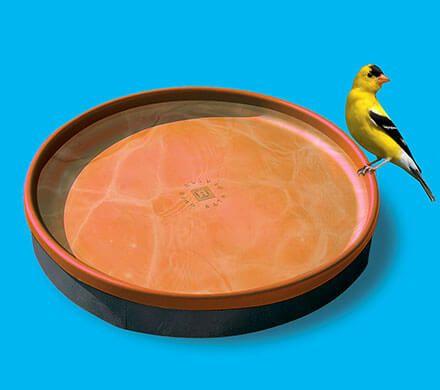 3-in-1 Heated Terra Cotta Birdbath