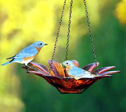 Colorful Daisy Bowl Birdbath