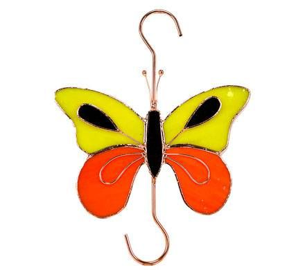 Stained Glass Butterfly Hook