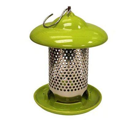 Ceramic Bird Feeder - Green