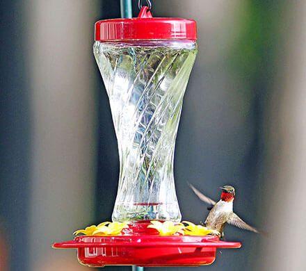 Wavy Glass Hummingbird Feeder